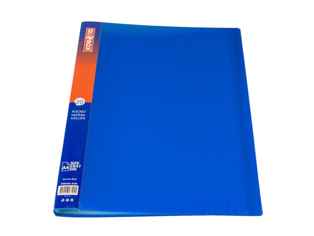 Mapa GLOBOX cu 20 folii incluse, albastru