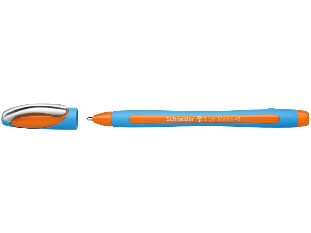 Pix SCHNEIDER Slider Memo XB, rubber grip, accesorii metalice - scriere portocaliu