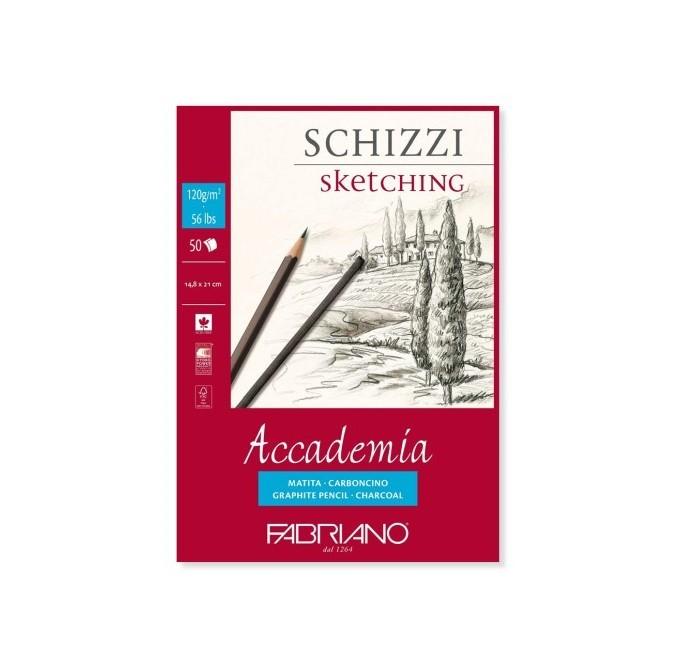 Bloc desen Accademia Schizzi, A5, fara spira, Fabriano