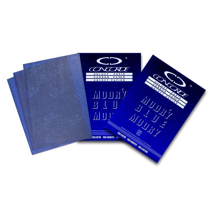 Hartie carbon (INDIGO), 25 coli/set, albastru
