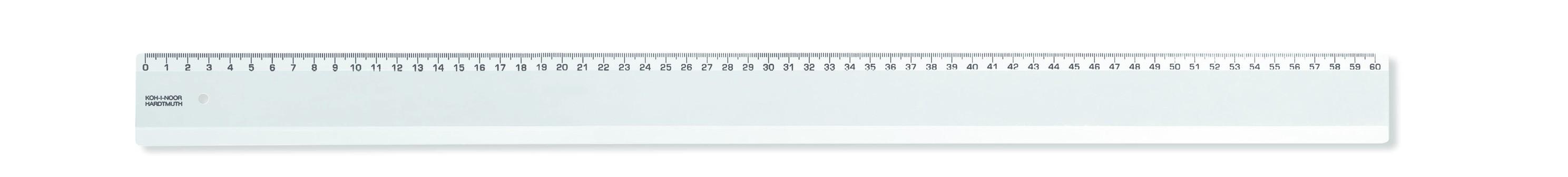 Rigla plastic KOH-I-NOOR 60 cm