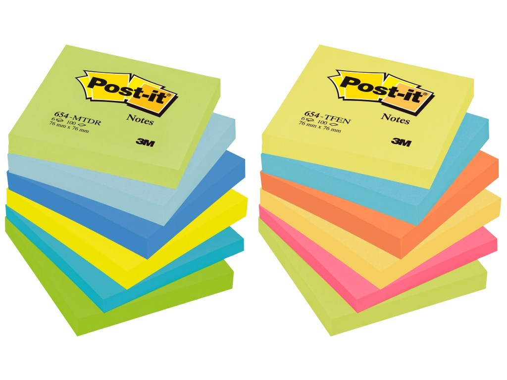 Notite adezive Post-it, 76 x 76 mm, 100 file