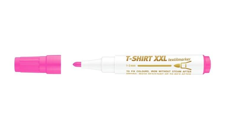 Marker ICO pentru textile, roz