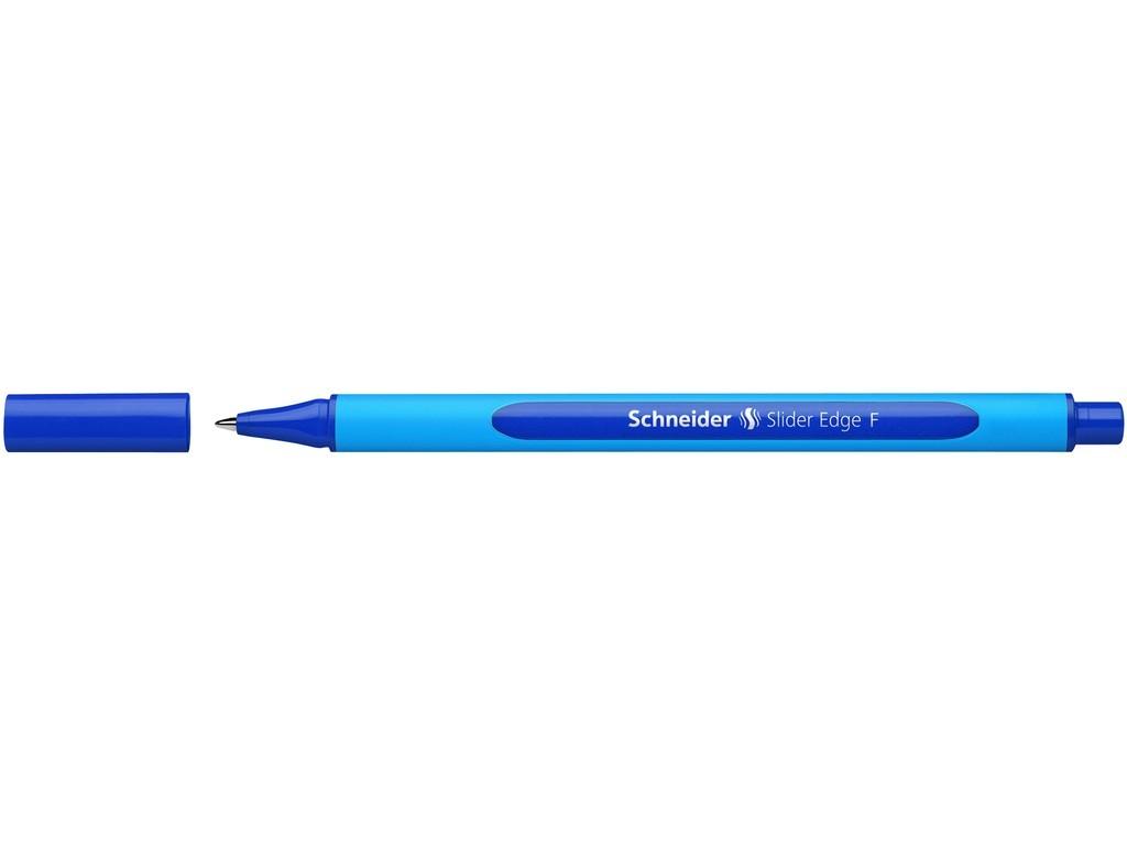 Pix SCHNEIDER Slider Edge F, rubber grip, varf fin - scriere albastra