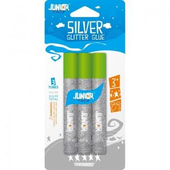 Set lipici GLITTER, argintiu