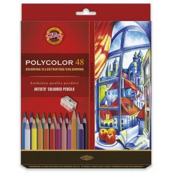 Set 48 creioane Polycolor +...