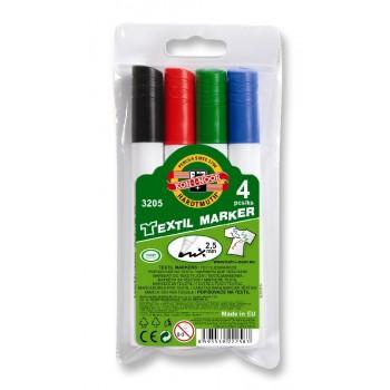Set 4 markere pentru textile