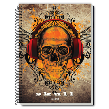 Caiet spira metal SKULL IS...