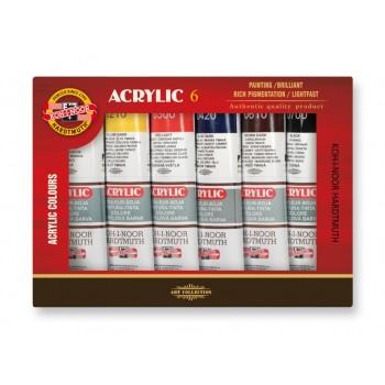 Set 6 culori acril 40ml...